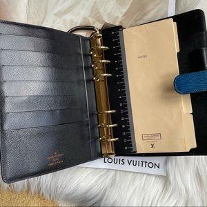 Louis Vuitton Medium Blue Epi Leather MM Notebook